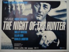 "NIGHT OF THE HUNTER (1999 BFI Release) - British UK Quad film poster - ROBERT MITCHUM - (30"" x 40"" -"