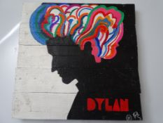 URBAN ART – PAINT ON PALLET WOOD SIGNED ARTIST PROOF BY BOWKETT BASED ON THE DYLAN MILTON GLASIER