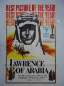 LAWRENCE OF ARABIA (1963) US One Sheet Style D - Academy Awards - Movie Poster - tear to fold,