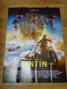 TINTIN (2011) - French Grande movie poster - The Adventures of Tintin: The Secret of the Unicorn,