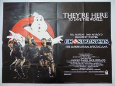 "GHOSTBUSTERS (1984) UK Quad film poster 30"" x 40"" (76 x 101.5 cm) (30"" x 40"")"