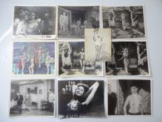 SEXPLOITATION / ADULT FILM STILLS (1950s various titles - black/white and colour (10)