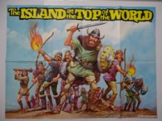 ISLAND AT THE TOP OF THE WORLD LOT (1974) - (3 in Lot) - 2 x UK Quad Film Posters -'Vikings' & ""