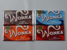 CHARLIE AND THE CHOCOLATE FACTORY (2005) - A Set of 4 original production used WONKA bars from the
