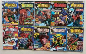 WEREWOLF BY NIGHT #25 27, 28, 29, 30, 31, 34, 35, 36, 38 (10 in Lot) - (1974/76 - MARVEL - Pence