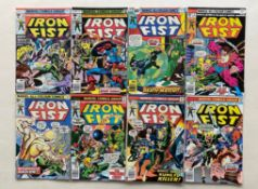 IRON FIST #4, 6, 7, 9, 10, 11, 12, 13 (8 in Lot) - (1976/77 - MARVEL - Cents/Pence Copy) - Flat/