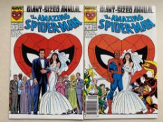 AMAZING SPIDER-MAN KING-SIZE ANNUAL #21 (Lot of 2) - (1987 - MARVEL - Cents & Cents/Pence Copy) -