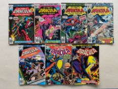 TOMB OF DRACULA #27, 28, 56, 57, 59, 61, 62 (7 in Lot) - (1974/78 - MARVEL - Pence Copy) - Flat/