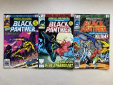 MARVEL PREMIERE #51, 52, 53 - BLACK PANTHER (Lot of 3) - (1979/80 - MARVEL - Pence Copy) - Black