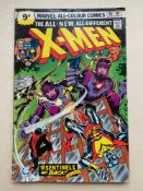UNCANNY X-MEN #98 - (1976 - MARVEL - Pence Copy) - The X-Men battle the Sentinels - Wolverine seen