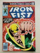 IRON FIST #8 - (1976 - MARVEL - CENTS Copy) - First appearance of Chaka + Peter Parker and Mary Jane