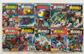 WEREWOLF BY NIGHT #6, 9, 11, 13, 14, 20, 21, 22, 23, 24 (10 in Lot) - (1973/74 - MARVEL - Pence