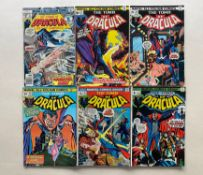 TOMB OF DRACULA #7, 9, 23, 24, 27, 57 (6 in Lot) - (1973/77 - MARVEL - Pence Copy) - Flat/Unfolded -
