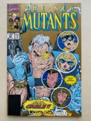NEW MUTANTS #87 - (1990 - MARVEL - Cents Copy) - Second printing with Gold ink cover - First