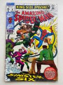 AMAZING SPIDER-MAN KING-SIZE ANNUAL #6 - (1969 - MARVEL - Cents Copy with Pence Stamp) - Reprints
