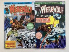 WEREWOLF BY NIGHT #33 & 37 (2 in lot) - (1975/76 - MARVEL - Pence Copy) - Second and third