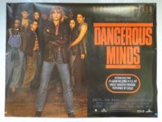 DANGEROUS MINDS (1995) - BIOGRAPHY / DRAMA - MICHELLE PFEIFFER - UK QUAD FILM / MOVIE POSTER -