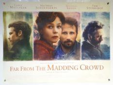 FAR FROM THE MADDING CROWD (2015) - DRAMA / ROMANCE - MICHAEL SHEEN / CAREY MULLIGAN - UK QUAD