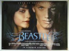 BEASTLY (2011) - ADVANCE DESIGN POSTER - DRAMA / FANTASY / ROMANCE - UK QUAD FILM / MOVIE POSTER -