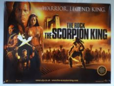 THE SCORPION KING (2002) - MAIN DESIGN MOVIE POSTER - SCIFI / FANTASY / ACTION - THE ROCK (DWAYNE
