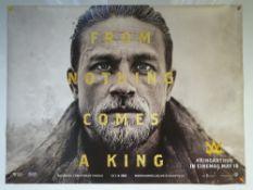 KING ARTHUR (2017) - ADVANCE DESIGN - ACTION / ADVENTURE - UK QUAD FILM / MOVIE POSTER - ROLLED AS