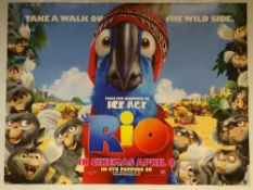 RIO (2011) - ANIMATION / ADVENTURE / COMEDY - UK QUAD FILM / MOVIE POSTER - ROLLED AS ISSUED