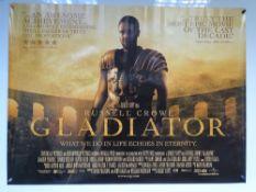 GLADIATOR (2000) - ACTION / ADVENTURE / DRAMA - RUSSELL CROWE / JOAQUIN PHOENIX - UK QUAD FILM /