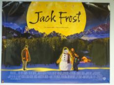 JACK FROST (1998) - COMEDY / DRAMA / FAMILY - MICHAEL KEATON - UK QUAD FILM / MOVIE POSTER -