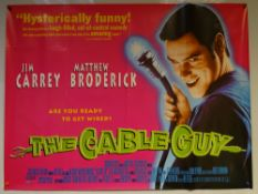 THE CABLE GUY (1996) - COMEDY / DRAMA / THRILLER - JIM CARREY / MATTHEW BRODERICK - UK QUAD FILM /