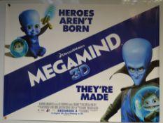 MEGAMIND (2010) - ADVANCE POSTER - SCI-FI / ANIMATION / FAMILY - DREAMWORKS - UK QUAD FILM / MOVIE