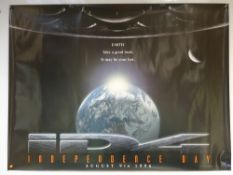 INDEPENDENCE DAY (1996) - ADVANCE POSTER - ACTION / ADVENTURE / SCI-FI - WILL SMITH / BILL PULLMAN /