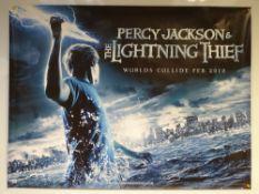 PERCY JACKSON & THE LIGHTNING THIEF (2010) - ADVANCE DESIGN POSTER - ADVENTURE / FAMILY /