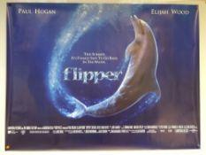 FLIPPER (1996) - FAMILY / ADVENTURE - PAUL HOGAN / ELIJAH WOOD - UK QUAD FILM / MOVIE POSTER -
