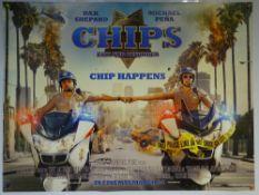 CHIPS (2017) - ADVANCE DESIGN POSTER - ACTION / COMEDY / CRIME - UK QUAD FILM / MOVIE POSTER