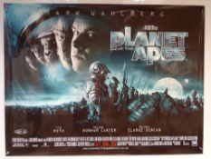 PLANET OF THE APES (2001) - MAIN MOVIE POSTER DESIGN - SCIFI / FANTASY - MARK WAHLBERG / TIM