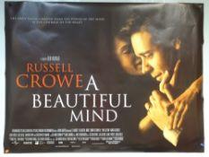A BEAUTIFUL MIND (2001) - BIOGRAPHY / DRAMA - RUSSELL CROWE / ED HARRIS / JENNIFER CONNELLY - UK