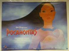 POCAHONTAS (1995) - ADVANCE POSTER - ANIMATION / ADVENTURE / DRAMA - MEL GIBSON / CHRISTIAN BALE -
