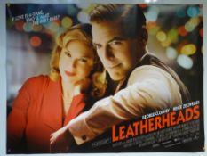 LEATHERHEADS (2008) - MAIN DESIGN POSTER - COMEDY / DRAMA / ROMANCE - UK QUAD FILM / MOVIE
