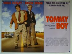 TOMMY BOY (1995) - ADVENTURE / COMEDY - CHRIS FARLEY / DAVID SPADE - UK QUAD FILM / MOVIE POSTER -