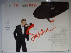 SABRINA (1995) - COMEDY / DRAMA - HARRISON FORD / JULIA ORMOND - UK QUAD FILM / MOVIE POSTER -