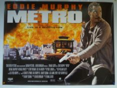 METRO (1997) - ACTION / COMEDY / CRIME - EDDIE MURPHY - UK QUAD FILM / MOVIE POSTER - ROLLED AS
