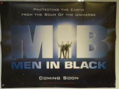 MEN IN BLACK (1997) - ADVANCE DESIGN MOVIE POSTER - ACTION / SCIFI / COMEDY - WILL SMITH / TOMMY LEE