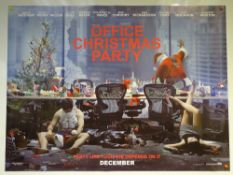 OFFICE CHRISTMAS PARTY (2016) - ADVANCE DESIGN POSTER - COMEDY - UK QUAD FILM / MOVIE POSTER -
