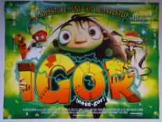 IGOR (2008) - ANIMATION / COMEDY / FAMILY - UK QUAD FILM / MOVIE POSTER - ROLLED AS ISSUED