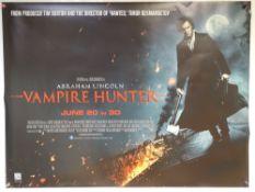 ABRAHAM LINCOLN:VAMPIRE HUNTER (2012) - FANTASY / HORROR / ACTION - BENJAMIN WALKER - UK QUAD FILM /