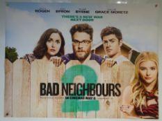 BAD NEIGHBOURS (2014) - ADVANCE DESIGN POSTER - COMEDY - UK QUAD FILM / MOVIE POSTER