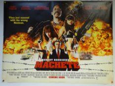 MACHETE (2010) - ADVANCE DESIGN - ACTION / CRIME / THRILLER - UK QUAD FILM / MOVIE POSTER - ROLLED