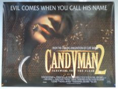 CANDYMAN 2: FAREWELL TO THE FLESH (1995) - HORROR - UK QUAD FILM / MOVIE POSTER - PREVIOUSLY