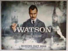SHERLOCK HOLMES (2009) - 'WATSON' ADVANCE POSTER - ACTION / ADVENTURE / CRIME - JUDE LAW / ROBERT