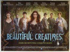 BEAUTIFUL CREATURES (2013) - MAIN DESIGN POSTER - DRAMA / FANTASY / ROMANCE - UK QUAD FILM / MOVIE